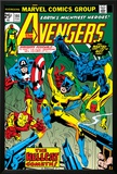 Avengers No144 Cover: Hellcat  Captain America  Iron Man  Beast  Vision and Avengers Charging