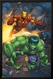 Marvel Team-Up No4 Cover: Hulk and Iron Man