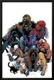 Marvel Pets Handbook Cover: Lockjaw  Lockheed  Devil Dinosaur  Zabu and Old Lace