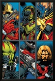 Guardians Of The Galaxy No2 Group: Gamora  Rocket Raccoon and Adam Warlock