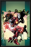 Young Avengers No3 Cover: Iron Lad  Wiccan  Hulkling and Patriot