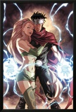 Dark Reign: Young Avengers No4 Cover: Wiccan and Enchantress