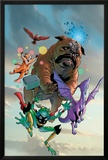 Lockjaw and The Pet Avengers No1 Cover: Lockjaw  Lockheed  Throg  Redwing and Hairball