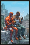 Marvel Team-Up No9 Cover: Daredevil  Cage and Luke