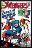 Avengers Classic No4 Cover: Captain America  Iron Man  Thor  Giant Man and Wasp