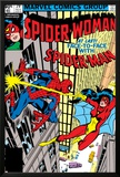 Spider-Woman No20 Cover: Spider Woman and Spider-Man Fighting