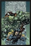 Ultimate Wolverine vs Hulk No5 Cover: Wolverine and Hulk
