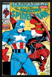 Amazing Spider-Man No323 Cover: Captain America and Spider-Man