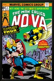 Nova: Origin Of Richard Rider - The Man Called Nova No4 Cover: Nova and Thor