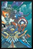MegaMorphs 1 Cover: Wolverine  Spider-Man  Ghost Rider  Captain America and Hulk
