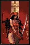 Elektra The Hand No1 Cover: Elektra Fighting