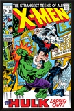 X-Men No66 Cover: Hulk  Beast  Iceman and Angel
