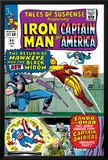 Tales Of Suspense No64 Cover: Iron Man  Captain America  Hawkeye  Black Widow  Sando and Omar