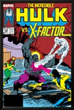 Incredible Hulk No336 Cover: Iceman  Grey  Jean  Cyclops  Hulk and X-Factor Crouching
