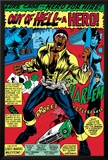 Marvel Comics Retro: Luke Cage  Hero for Hire Comic Panel  Screaming