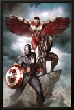 Captain America: Hail Hydra No3 Cover: Captain America  Black Panther  and Falcon