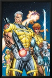 X-Force No1 Cover: Cable  Shatterstar and Cannonball
