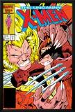 Uncanny X-Men No213 Cover: Sabretooth and Wolverine