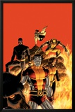 Astonishing X-Men No13 Cover: Cyclops  Wolverine  Colossus and Shadowcat