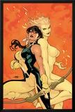 Young X-Men No2 Cover: Magma and Moonstar