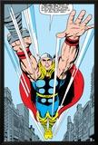 Marvel Comics Retro: Mighty Thor Comic Panel  Flying