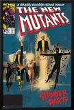 The New Mutants No4 Cover: Sunspot  Cannonball  Magik  Magma  Wolfsbane and New Mutants