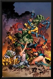 New Avengers No20 Cover: Jessica Jones  Ms Marvel  Skaar  Wolverine  Spider-Man and Others