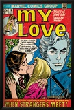 Marvel Comics Retro: My Love Comic Book Cover No20  Kissing  When Strangers meet! (aged)