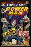 Marvel Comics Retro: Luke Cage  Hero for Hire Comic Book Cover No26  the Night Shocker! (aged)