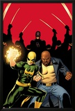 Daredevil No509 Cover:  Iron Fist  Luke Cage  and Daredevil Posing