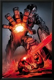X-Men: Schism No4: Sentinel  Cyclops  and Wolverine Fighting