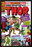 Journey Into Mystery: Thor No1 Cover: Thor and Hercules Fighting