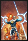Fear Itself: Youth in Revolt No4 Cover: Gravity  Spider-Man  Thor  and Iron Man