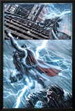 New Mutants No25: Thor Flying in a Lightning Storm