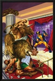 Wolverine/Hercules: Myths  Monsters & Mutants No2 Cover: Wolverine and Hercules Fighting