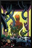 Superior Spider-Man Team-Up 5 Cover: Spider-Man  Vulture  Electro  Sandman  Green Goblin  Kingpin
