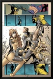 X-Men: Prelude To Schism No4: Panels with Jean Grey  Wolverine  and Cyclops Fighting