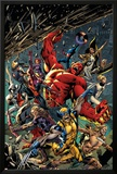 Age of Ultron 5 Cover: Red Hulk  Captain America  Storm  Iron Man  Moon Knight  Hawkey  Wolverine