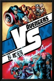 AVX No1 Cover: Cyclops  Storm  Magneto  Colossus  Emma Frost  Captain America and Others