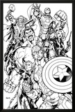 Avengers Assemble Inks Featuring Captain America  Hawkeye  Hulk  Black Widow  Iron Man  Thor