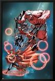 Thunderbolts Annual 1 Cover: Red Hulk  Elektra  Punisher  Leader  Deadpool  Venom  Dr Strange