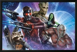 Guardians of the Galaxy - Star-Lord  Drax  Groot  Gamora  Rocket Raccoon