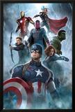 The Avengers: Age of Ultron - Captain America  Black Widow  Hulk  Hawkeye  Vision  Iron Man  Thor