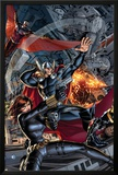 Avengers 2 Cover: Black Widow  Falcon  Thor  Sunspot