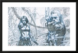 Avengers Assemble Pencils Featuring Black Widow  Hawkeye