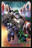 Contest of Champions 1 Cover with Maestro  Venom  Gamora  Iron Man  Thor (Female) & More