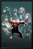 Superior Spider-Man 7 Cover: Spider-Man  Spider Woman  Wolverine  Captain America  Black Widow