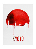 Kyoto Skyline Red