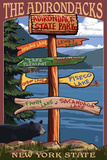 Adirondack  New York - Indian Lake Signpost Destinations
