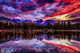 Rocky Mountain National Park  Colorado - Sunset and Sprague Lake